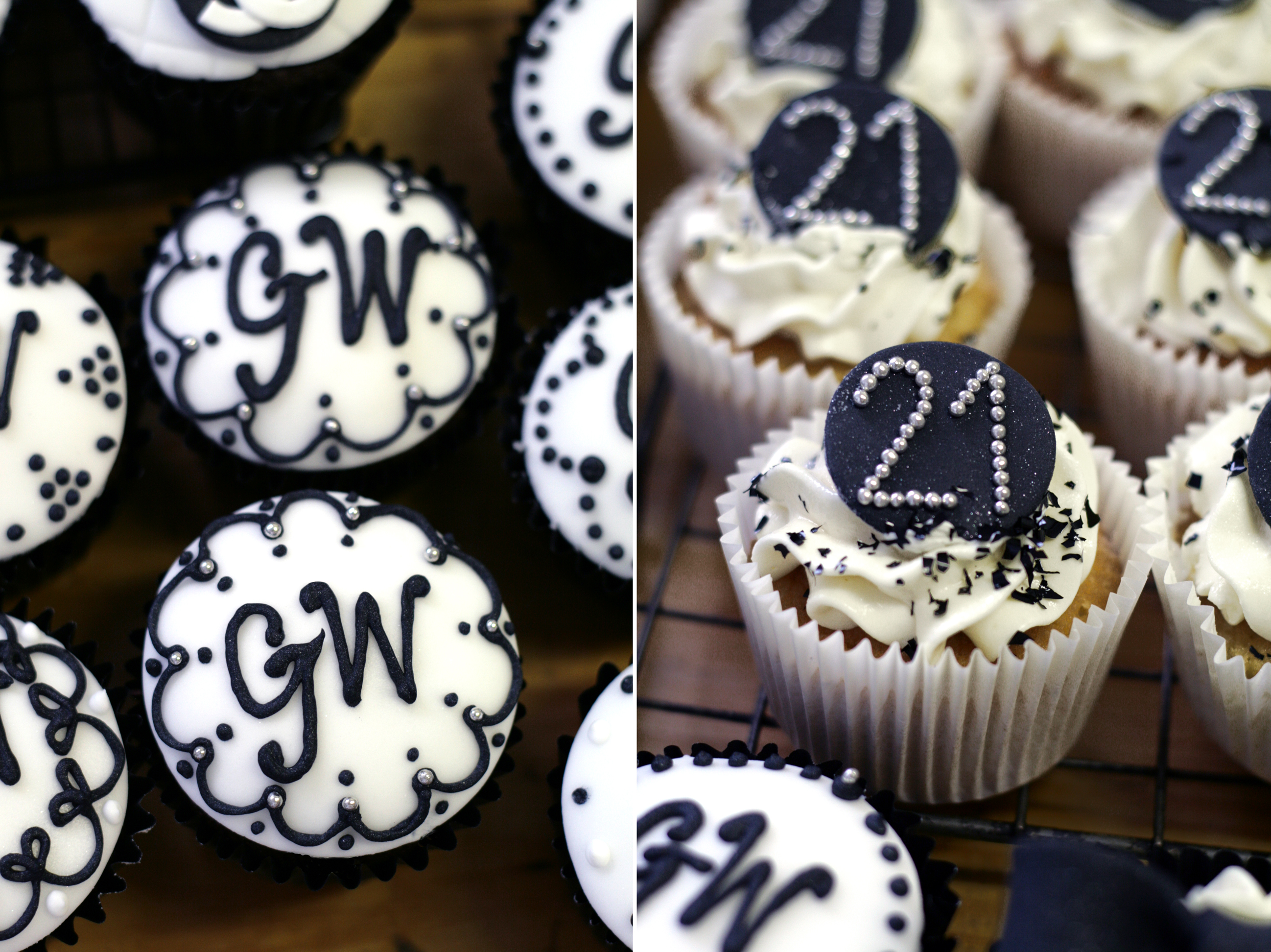 Black And White Cupcake Images : very cute Food Network Pinterest 21st Birthday ...