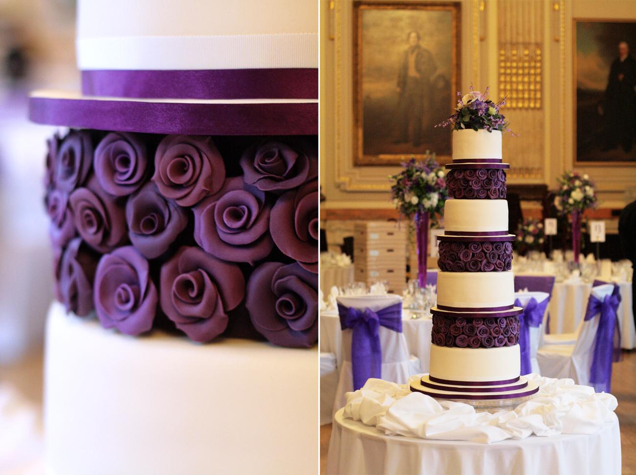 Dark Purple Wedding Cake Viewing Gallery