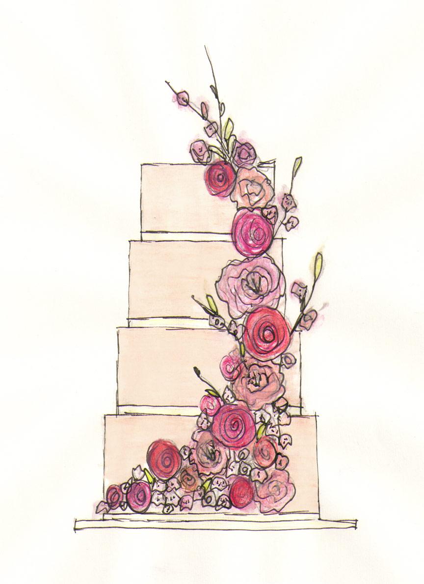 Sugar Sketch Cake Design : 1000+ images about Cake sketch on Pinterest Sketching ...