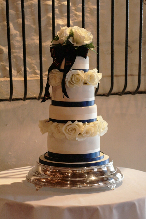 An understated and classically elegant design, this was the first wedding cake we've made for a close friend and so was a special highlight to March 2012.