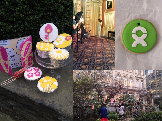 We contributed 60s themed cupcakes and branded biscuits for the epic Oxfam Weddings charity photoshoot, which included a staggering number of incredible suppliers. Curated by Annabel of Love My Dress, you can find a write up here http://www.lovemydress.net/blog/2012/04/oxfam-the-photoshoot-wedding-auction.html