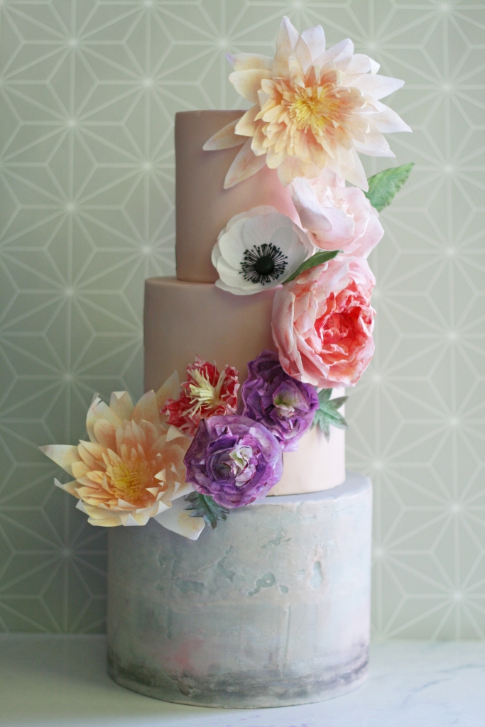 Learn all of the flowers featured on this cake!