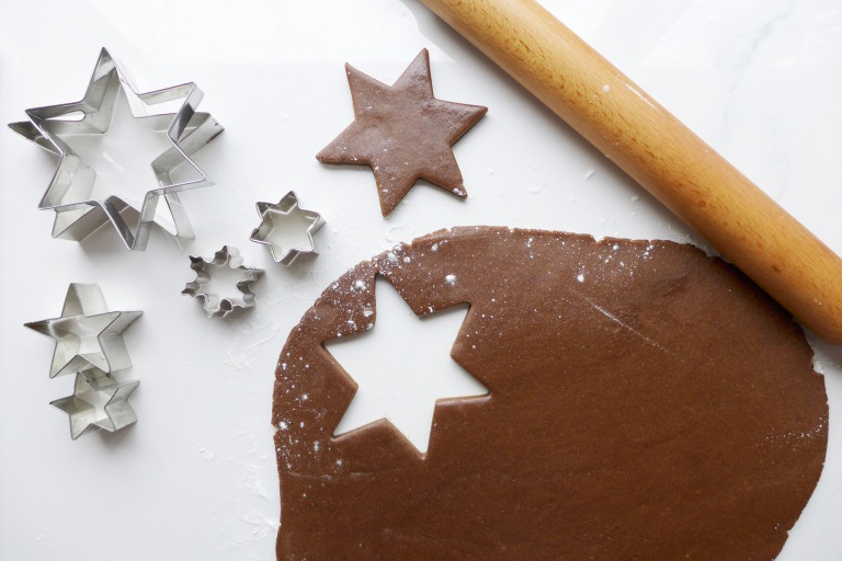 Cut out gingerbread star