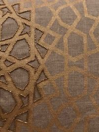 Taigan geometry gilded star pillow